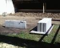 Betonelemente-Trennwand